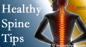 Amelia Chiropractic Clinic posts healthy spine tips from the American Chiropractic Association with Fernandina Beach chiropractic patients.