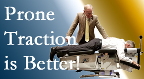Fernandina Beach spinal traction applied lying face down – prone – is best according to the latest research. Visit Amelia Chiropractic Clinic.