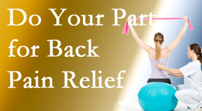 Amelia Chiropractic Clinic invites back pain sufferers to participate in their own back pain relief recovery.