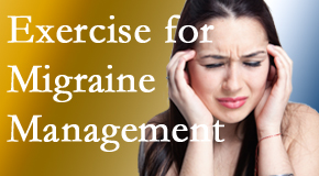 Amelia Chiropractic Clinic includes exercise into the chiropractic treatment plan for migraine relief.