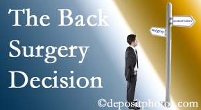 Fernandina Beach back surgery for a disc herniation is an option to be carefully studied before a decision is made to proceed.