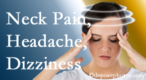 Amelia Chiropractic Clinic helps relieve neck pain and dizziness and related neck muscle issues.
