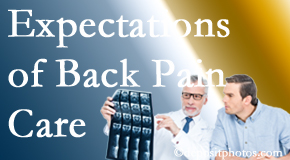The pain relief expectations of Fernandina Beach back pain patients influence their satisfaction with chiropractic care. What's realistic?