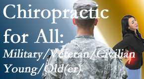 Amelia Chiropractic Clinic delivers back pain relief to civilian and military/veteran sufferers and young and old sufferers alike!