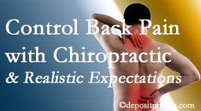 Amelia Chiropractic Clinic helps patients set realistic goals and find some control of their back pain and neck pain so it doesn't necessarily control them.