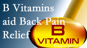 Amelia Chiropractic Clinic may include B vitamins in the Fernandina Beach chiropractic treatment plan of back pain sufferers.