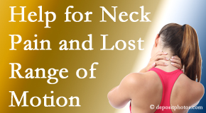 Amelia Chiropractic Clinic helps neck pain patients with limited spinal range of motion find relief of pain and restored motion.