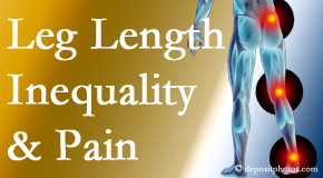 Amelia Chiropractic Clinic checks for leg length inequality as it is related to back, hip and knee pain issues.
