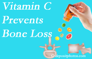 Amelia Chiropractic Clinic may recommend vitamin C to patients at risk of bone loss as it helps prevent bone loss.
