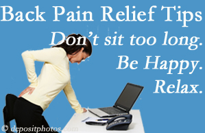 Amelia Chiropractic Clinic reminds you to not sit too long to keep back pain at bay!