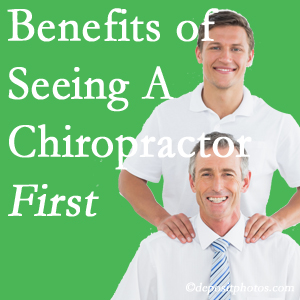 Getting Fernandina Beach chiropractic care at Amelia Chiropractic Clinic first may reduce the odds of back surgery need and depression.