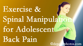 Amelia Chiropractic Clinic uses Fernandina Beach chiropractic and exercise to help back pain in adolescents.