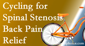 Amelia Chiropractic Clinic encourages exercise like cycling for back pain relief from lumbar spine stenosis.