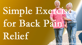 Amelia Chiropractic Clinic encourages simple exercise as part of the Fernandina Beach chiropractic back pain relief plan.