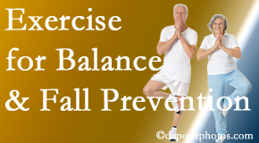 Fernandina Beach chiropractic care of balance for fall prevention involves stabilizing and proprioceptive exercise.