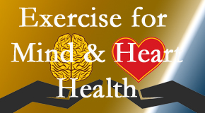 A healthy heart helps maintain a healthy mind, so Amelia Chiropractic Clinic encourages exercise.
