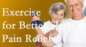 Amelia Chiropractic Clinic incorporates the recommendation to exercise into its treatment plans for chronic back pain sufferers as it improves sleep and pain relief.