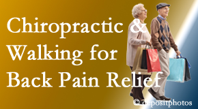 Amelia Chiropractic Clinic encourages walking for back pain relief in combination with chiropractic treatment to maximize distance walked.