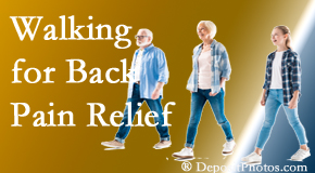 Amelia Chiropractic Clinic often recommends walking for Fernandina Beach back pain sufferers.