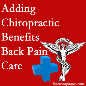 Added Fernandina Beach chiropractic to back pain care plans helps back pain sufferers.