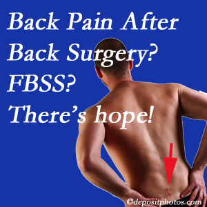 Fernandina Beach chiropractic care offers a treatment plan for relieving post-back surgery continued pain (FBSS or failed back surgery syndrome).