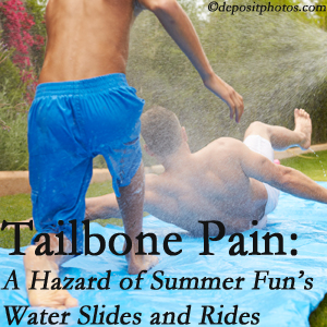 Amelia Chiropractic Clinic offers chiropractic manipulation to ease tailbone pain after a Fernandina Beach water ride or water slide injury to the coccyx.