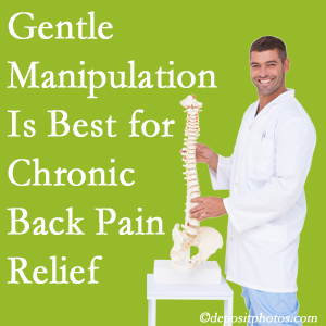 Gentle Fernandina Beach chiropractic treatment of chronic low back pain is superior.