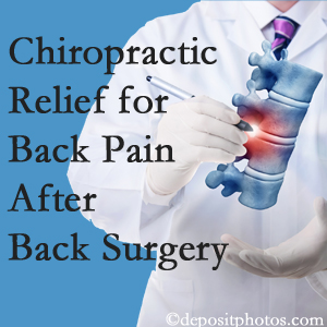 Amelia Chiropractic Clinic offers back pain relief to patients who have already undergone back surgery and still have pain.