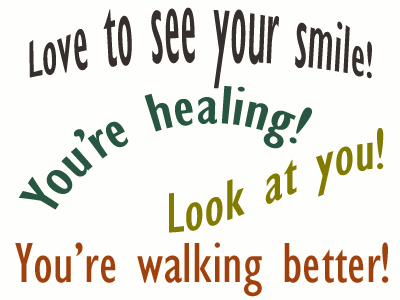 Use positive words to support your Fernandina Beach loved one as he/she gets chiropractic care for relief.