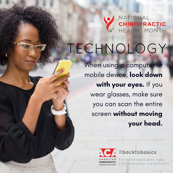 Careful while texting to not bend your neck too much!